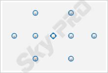 2 - Схема расположения точечных светильников на натяжном потолке