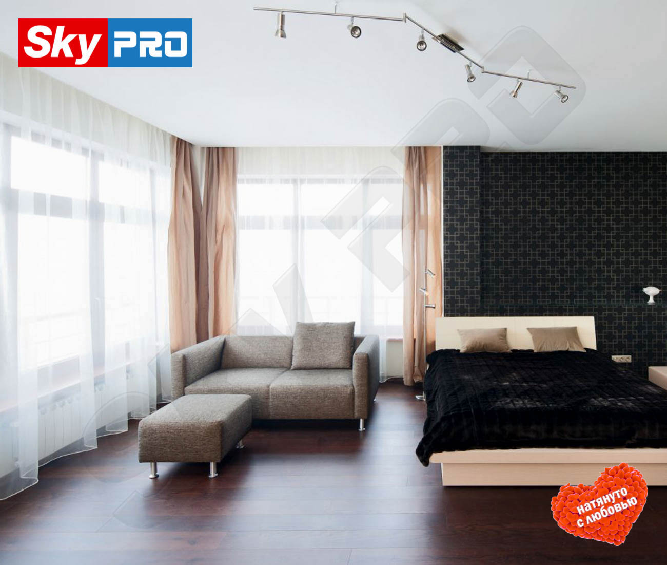 Белый тканевый натяжной потолок Премиум цена за метр