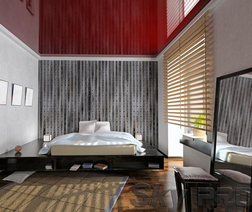 Установка натяжного потолка в спальне в Валдае