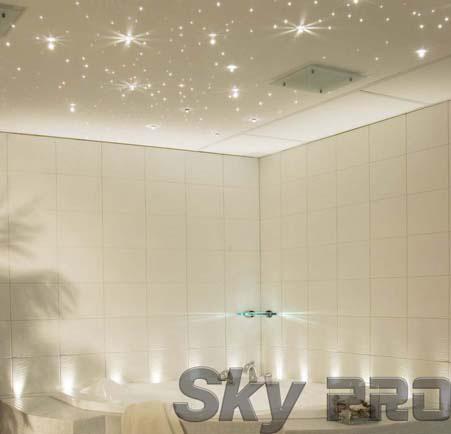 Эффект звездного неба на потолке